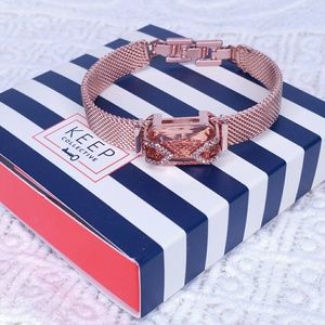 KEEP Collective Rose Gold Bracelet & Charm